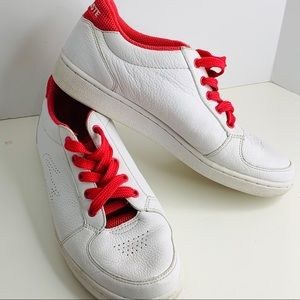 LACOSTE Carnaby White & Pink Leather Sneakers Shoe